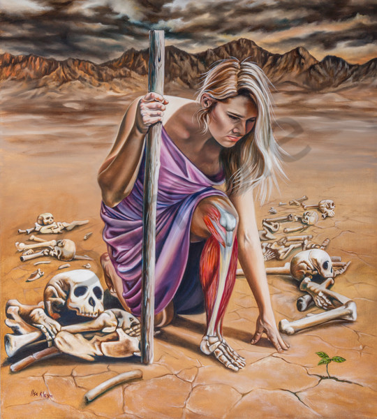 """Dry Bones"" by South Africa Artist Ilse Kleyn 