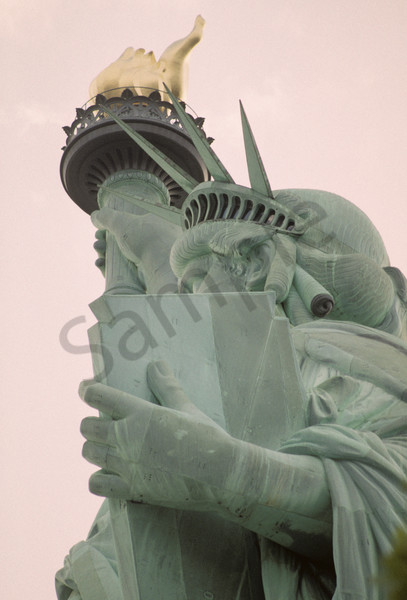 Staute of Liberty, Close-up, Up, Side-view