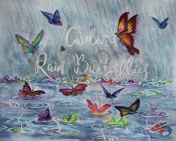 Rain, butterflies, water