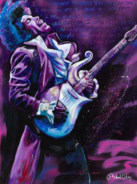 Prince Purple Rain Painting