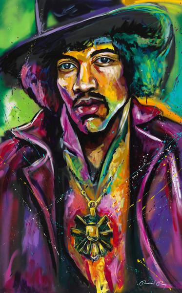 Jimi Hendrix Purple Haze Painting