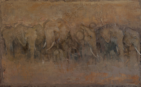 The Egrets And Elephants  Art | Mary Roberson