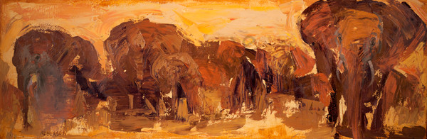 Amboseli Gold Art | Mary Roberson