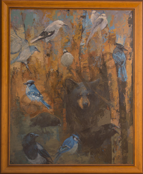 Corvids and Cub50x40 oil Linen good pic