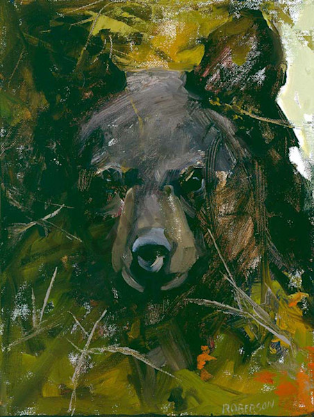 A Young Black Bear Art | Mary Roberson