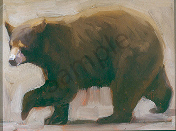 Black Bear Walking Art | Mary Roberson