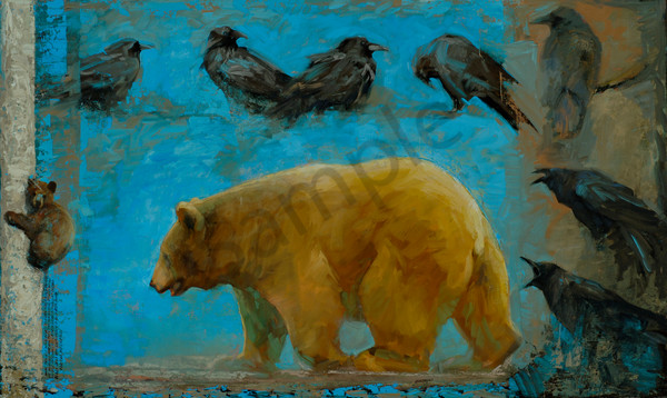 Black Bear Returns Art | Mary Roberson