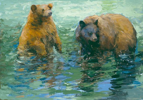 Green Water Bears Art | Mary Roberson