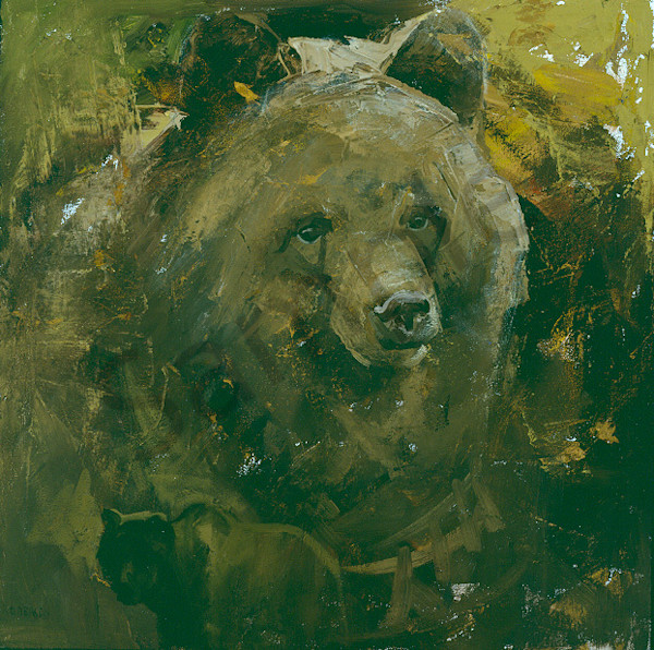 Grizzly Head Art | Mary Roberson