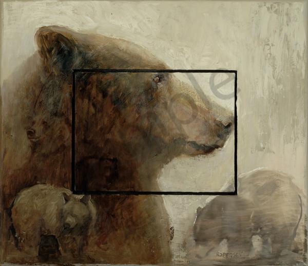 In Profile Black Bear Art | Mary Roberson