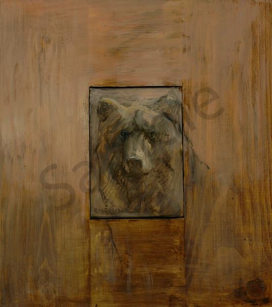 Sepia Bear Art | Mary Roberson