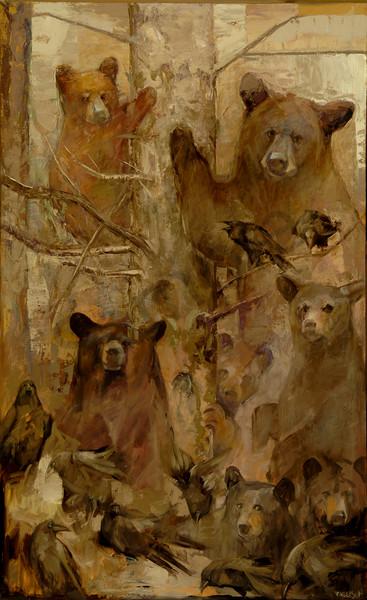Rocky Mountain Bear Tree Art | Mary Roberson