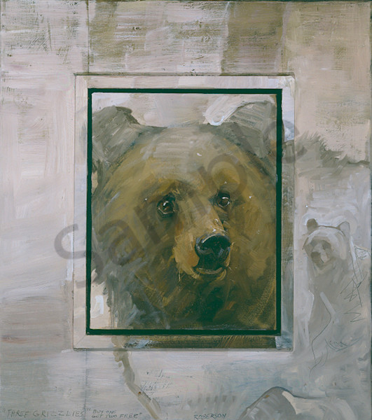 Three Grizzly Bears Art | Mary Roberson