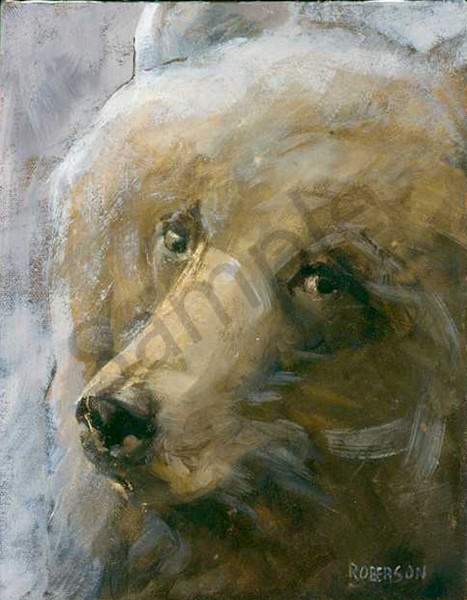 Up Close Grizz Art | Mary Roberson