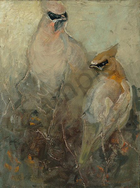 Cedar Waxwings Art | Mary Roberson