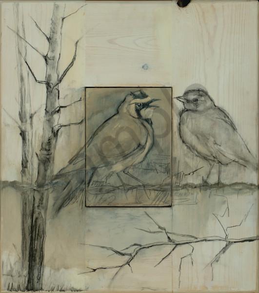Larks And Aspen Art   Mary Roberson