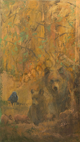 The Deep Forest (Left Diptych) Art | Mary Roberson