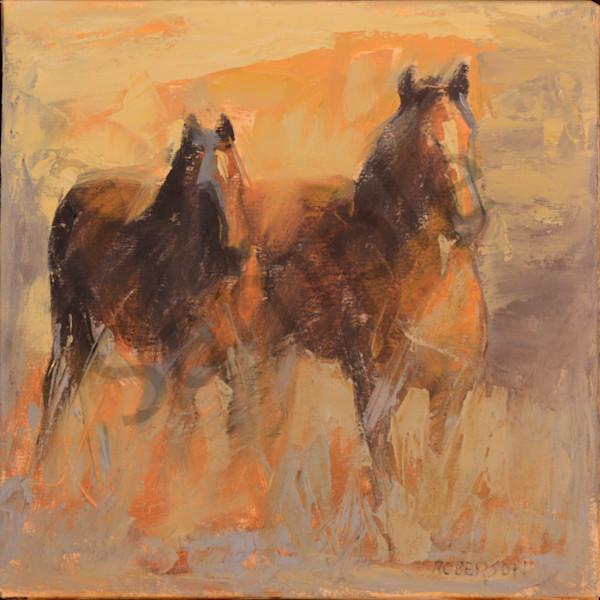 Orange Glow 14x14 Art | Mary Roberson