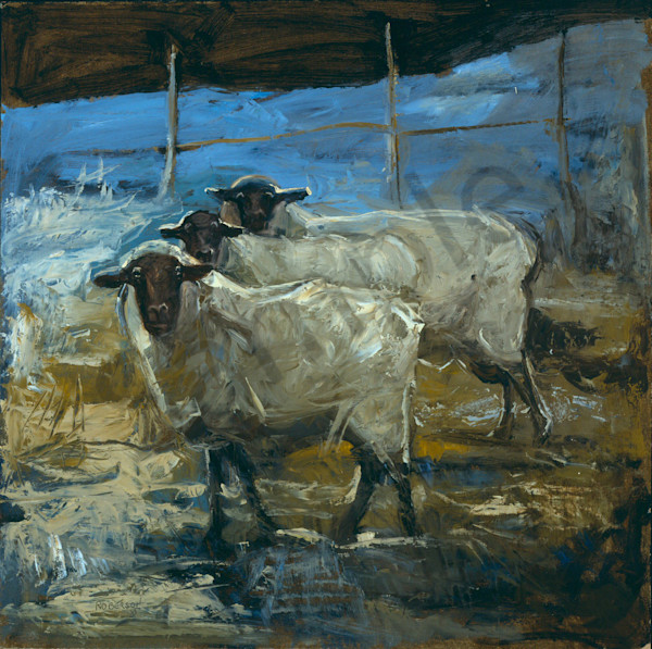 3 Sheep Art | Mary Roberson