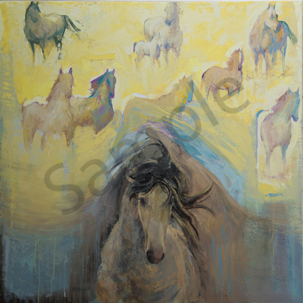 King 48x48oil On Wood Art | Mary Roberson