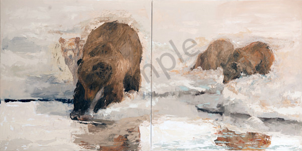 Sow And Cubs (Together) Art | Mary Roberson