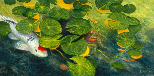 """Shy Redhead Amongst The Lillies"""