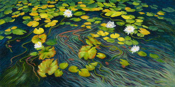 """Dance Of The Waterlilies"" Art | Bonnie Sailer Fine Art"