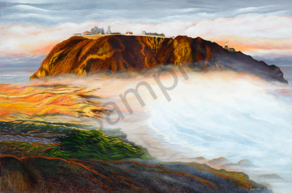 """Point Sur Lighthouse   Morning Fog"" Art 