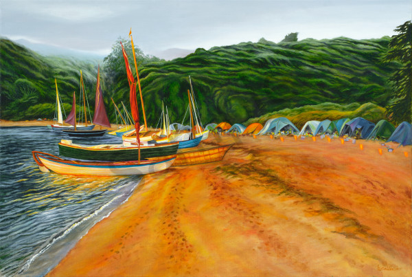 """Tomales Bay Boats"" Art 