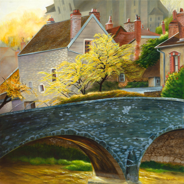 """""""The Bridge at Châtillon-sur-Seine"""" - France."""