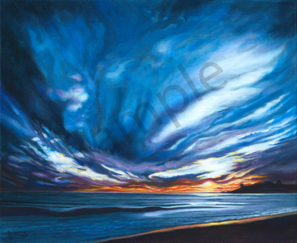 """Carmel Beach Evening"" Art 