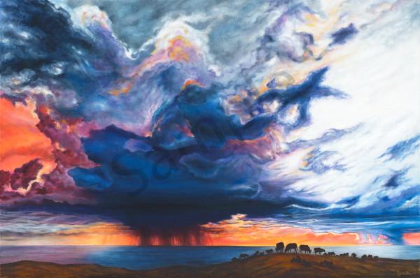 """Storm Over Notley's Landing"" Art | Bonnie Sailer Fine Art"