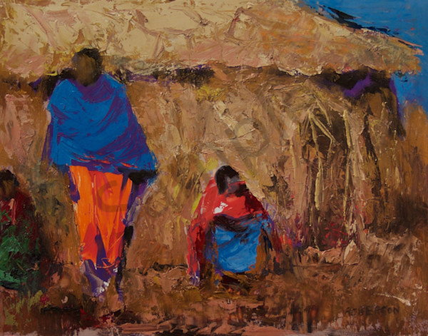 Evening Leisure-Maasai