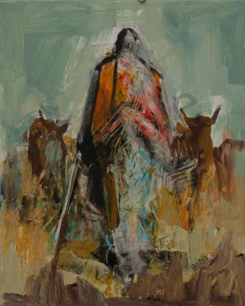 Maasai Herdsman Art | Mary Roberson
