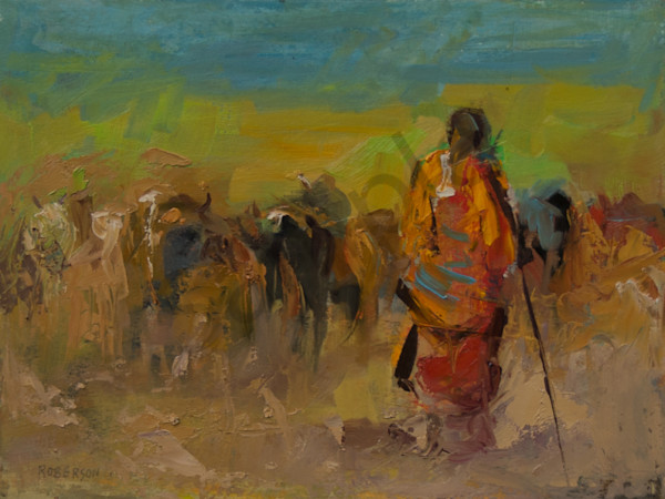 Noble Herder Maasai Art | Mary Roberson