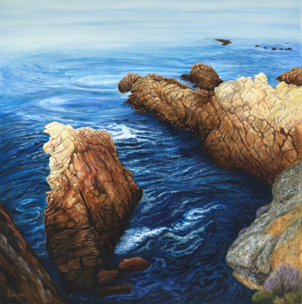 """Cliffs Edge Granite Point"" Art 