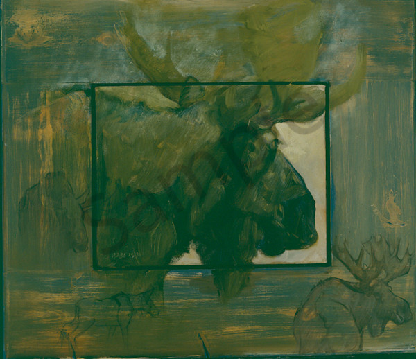Moose Re Done.Bmp Art | Mary Roberson