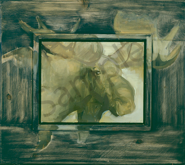 Moose Thinkin About It Art | Mary Roberson