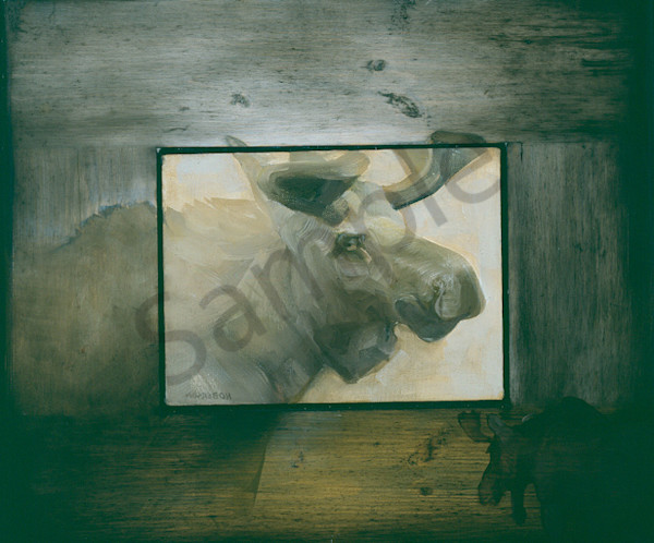 Moose Unwilling To Follow Instructions Art | Mary Roberson