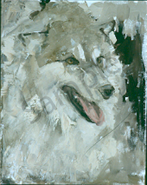 Panting Wolf1 Art | Mary Roberson