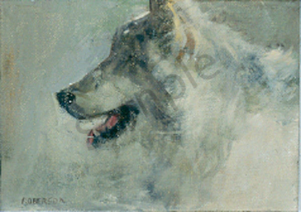 Panting Wolf Art | Mary Roberson