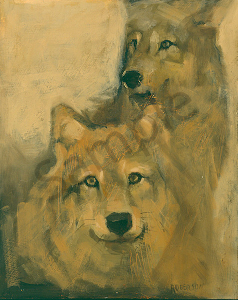 Wolf Pups Art | Mary Roberson