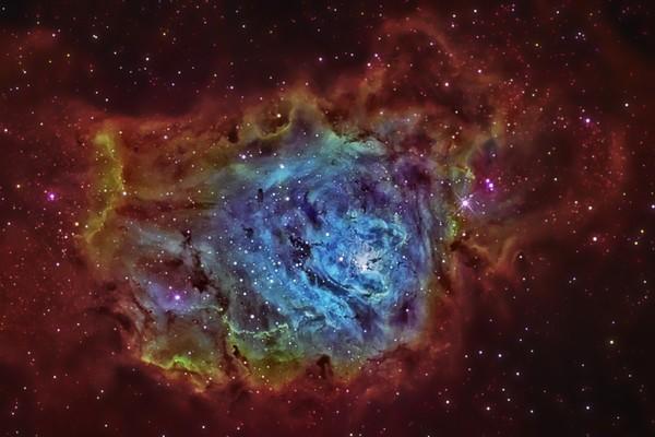 Lagoon Nebula (Red) 2 Photography Art | Dark Sky Images