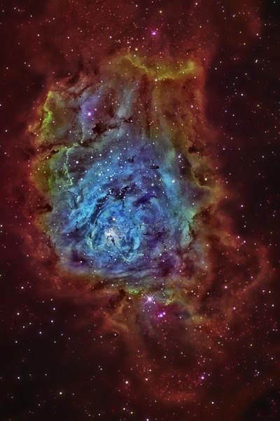 Lagoon Nebula (Red) 1 Photography Art | Dark Sky Images