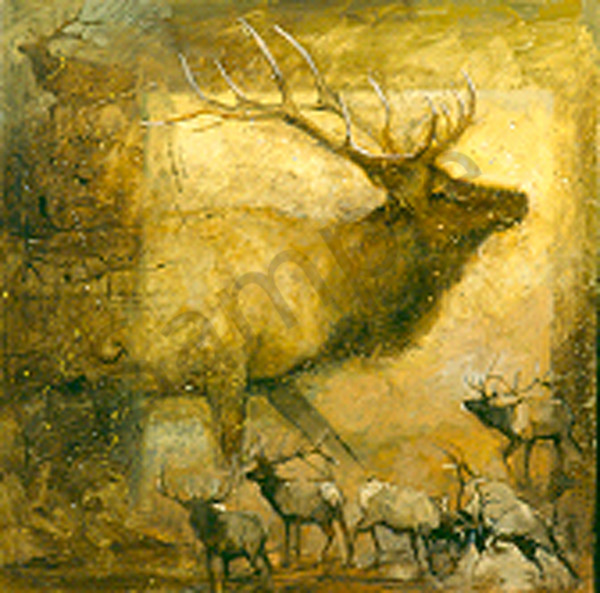 An Elk Story Art | Mary Roberson