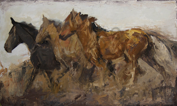 Horses Loves Freedom30x50 Art | Mary Roberson