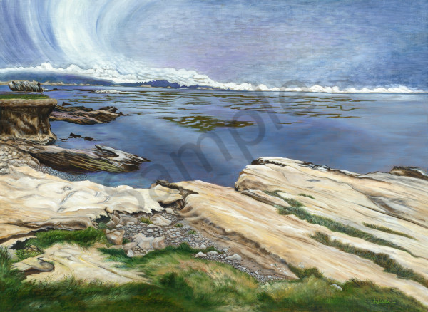 """Rocky Shore 18th Fairway, Pebble Beach"""