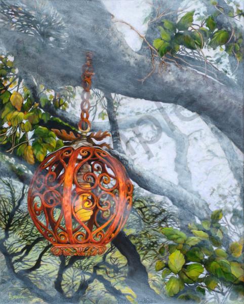 """Nepenthe Tree Lantern In Fog"" Art | Bonnie Sailer Fine Art"
