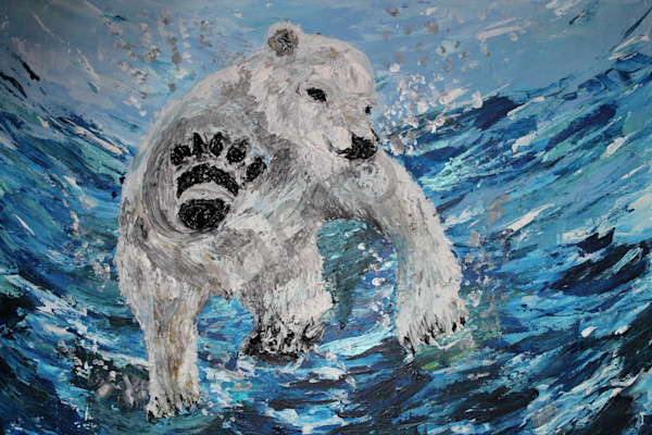 """Polar Bear"" by United Kingdom artist Fiona Jones 