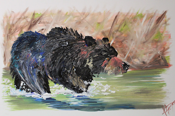 """Black Bear"" by United Kingdom artist Fiona Jones 